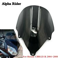 Race Black Windscreen Fairing Screen For Honda CBR125 R CBR125R 2004-2008 Wind