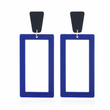 1Pair Women Acrylic Geometric Long Drop Dangle Earrings Women Statement Jewelry