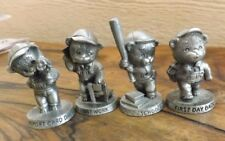 4 Real Cute Avon Pewter Small Figures