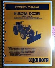 Kubota KUFD110 KUM200 KUM201 KUM204 KUM205 4' Dozer for B6000 B6100 B7100 Manual