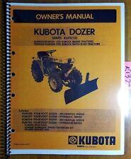 Kubota Kufd110 Kum200 Kum201 Kum204 Kum205 4 Dozer For B6000 B6100 B7100 Manual