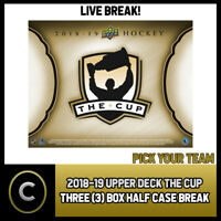 2018-19 UPPER DECK THE CUP 3 BOX (HALF CASE) BREAK #H554 - PICK YOUR TEAM -