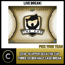 2018-19 UPPER DECK THE CUP 3 BOX (HALF CASE) BREAK #H749 - PICK YOUR TEAM -