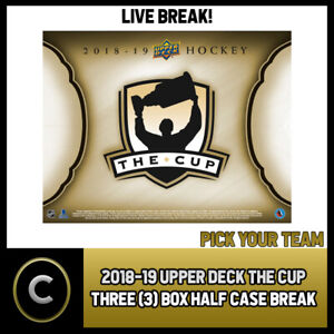 2018-19 UPPER DECK THE CUP 3 BOX (HALF CASE) BREAK #H916 - PICK YOUR TEAM -