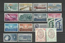 ITALIA REPUBBLICA 1956 ANNATA COMPLETA 17 VALORI GOMMA INTEGRA
