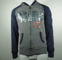 Chicago Bears NFL Apparel Kids Youth Girls Size Full Zip Hooded Light Sweatshirt