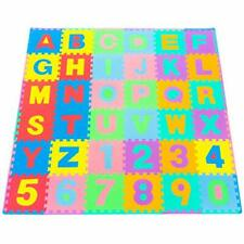 36 Tiles and 24 Borders Kids Foam Puzzle Floor Play Mat Colors Numbers Alphabets