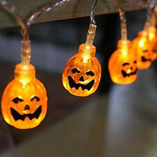 2016 Velice Battery Operated LED Fairy String Lights 3D Pumpkin 20 LED Halloween