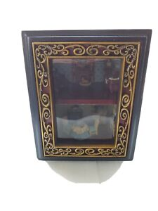 vintage dollhouse roombox lighted and fully furnished 1:24