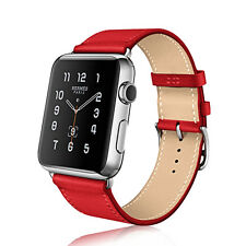 Replacement Genuine Leather Watch Strap Band for Apple Watch Series 4/3 / 2 / 1