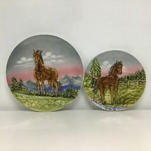 Marie Louise Fine Ceramics Hand Painted Horse Plates #310