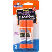 Elmer's Disappearing Purple School Glue Stick 2 Sticks
