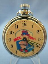 VINTAGE 1950's ** DICK TRACY ** CHARACTER ADVERTISING POCKET WATCH ~RARE~