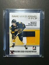 2009-10 ITG Heroes & Prospects Prime Jersey Patch GOLD Scott Glennie Vault 1/1