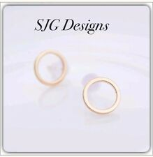 GOLD Plated Round earring -NEW- free shipping