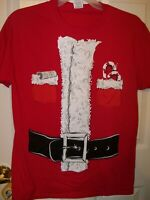 Santa Claus Costume Naughty Nice List Christmas  Shirt Mens Size Small NWT