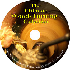 11 Vintage Books on CD, Ultimate Library on Wood Turning, Woodworking Lathe