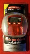 Walking Shop Red Sportline Calorie Step Distance PEDOMETER w/ Free Walking Book