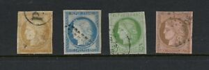 C342  French Colonies  1871/7   used selection - see scan   4v.  used
