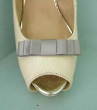 2 Small Grey Triple Bow Clips for Shoes - other colours on request