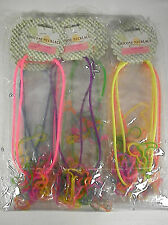 RUBBER NECKLACES 100% SILICONE LOTS OF 12 PACKAGES PARTY TOYS FAVOR BANDZ