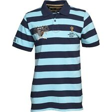 2015 RUGBY WORLD CUP MENS WEBB ELLIS POLO - NAVY AND LIGHT BLUE - SMALL - BNWT