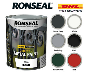 Ronseal Direct to Metal Garden Shed & Fence Interior Exterior Paint All Colours