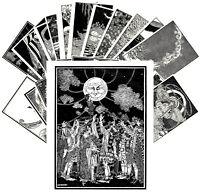 Postcards Pack [24 cards] Fantasy Scenes Vintage Engravings by DS Walker CC1138
