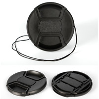 72mm center pinch snap on Front Lens Cap Cover for Canon Nikon Sony w string