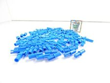 100 Blue LEGO Technic Axle Pins Lot With Friction Ridges part 43093