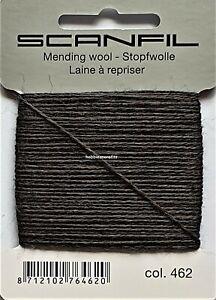VERY DARK GREY Scanfil Darning & Mending - 55% Wool 45% Nylon 15 Metres