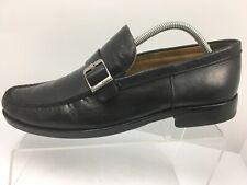 e9b520b69b8 Bally Beldano Black Leather Buckle Slip On Loafers Shoes Men s US Size 10  READ