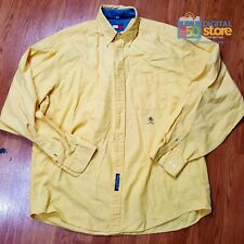 TOMMY Hilfiger Button Front L/S Long Sleeve Dress Shirt Yellow 16 1/2 36-37 EUC