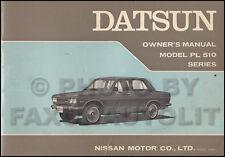 1970 Datsun 510 Owners Manual Original OEM Owner User Guide Book PL510 PL