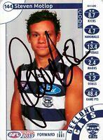 ✺Signed✺ 2013 GEELONG CATS AFL Card STEVEN MOTLOP Silver