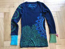 Wie NEU: Toller Desigual Pullover Pulli XS 34 36 Blau Grün Ornamente Berlin