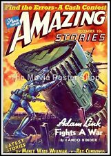 Amazing Stories 45  American Science Fiction Pulp Magazines Vintage Posters