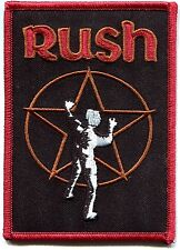 RUSH star logo EMBROIDERED IRON-ON PATCH **FREE SHIPPING** -spirit of radio