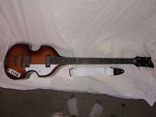 Hofner Icon Beatle Violin 4 string rh sb bass with hsc, half rounds, strap, and