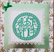 Blank card - Just For You - Handmade
