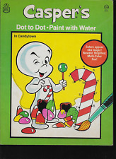 Vintage Casper Harveytoons Dot to Dot Paint with Water Activity Book 1980
