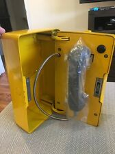 Western Electric Bell Emergency Phone Box System Yellow Call Sign Antique Vintag
