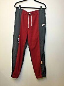 Nike Womens Sportswear Icon Clash Loose Fit Jogger Maroon Black Track Pants XL