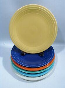 "Vintage Fiesta Ware Homer Laughlin 6 Asst 9.5"" Dinner Plates Old Art Deco #2"