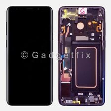 Purple LCD Touch Screen Digitizer Frame Replacement For Samsung Galaxy S9 Plus