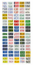 1/25 scale model car assorted USA 1970s license plates state tags 1:25