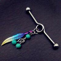 1PCS Fashion Industrial Piercing Barbell Stud Ear Ring Piercing Ear Bone Nail