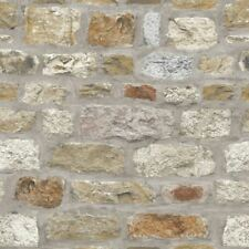 Country Stone Brick Wall Arthouse Feature Wallpaper 696500