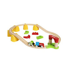 Wooden Railway Brio Train My First Set with Battery Locomotive 33710 New