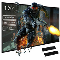 120'' Portable Foldable Projector Screen 16:9 HD Home Theater Outdoor Movies us